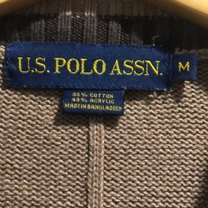 U.S. Polo Assn. Sweaters - Polo tan brown sweater Medium pullover cable knit